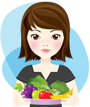 Eat lots of fruit and vegetables